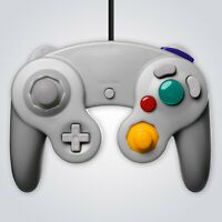 GameCube Controller Wired Silver for Nintendo GC Wii Console Joypad Gamepad