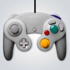GameCube Controlador con Cable De Plata Para Nintendo GC Wii Consola Joypad Gamepad