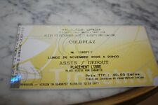 Ticket Concert )) COLDPLAY )) LYON 2005
