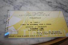 Ticket Concert )) COLDPLAY )) LYON 2005