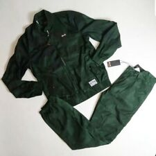 Le Tigre men 2p set 100%AUTHENTIC Track Jacket & Pants size Medium green