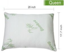 Queen Size Original Bamboo Memory Foam Bed Pillow Hypoallergenic with Carry Bag