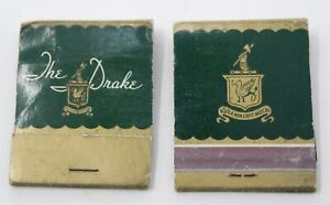 Vintage 1960s Lot 2 Matchbooks The Drake Hotel Chicago Aquila Non Capit Muscas