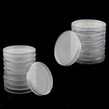 20pcs Plastic Coin Capsule Coin Collect Container Box Holder Storage 55/65mm