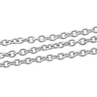 5Strands 5M Stainless Steel Links-Opened Chains 3x2.5mm