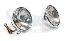 FORD MODEL A 1928-29 HEADLIGHTS PLAIN 12 VOLT HALOGEN WITH TURN SIGNAL