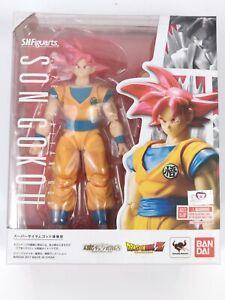 AUTHENTIC Bandai Tamashii SH Figuarts Dragon Ball Super Red God Goku Figure