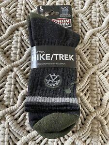 Darn Tough #1956 Hike/Trek Micro Crew Socks Merino Mens Large 10-12 Charcoal NIP