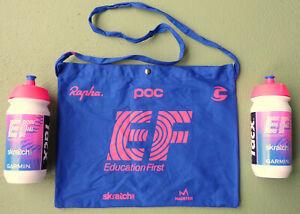 rare 2021 team EF NIPPO CANNONDALE feed bag water bottle set - Tour de France