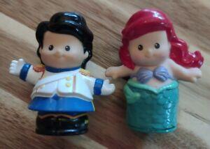 Fisher Price Little People Little Mermaid Disney Princess ARIEL & ERIC EUC!