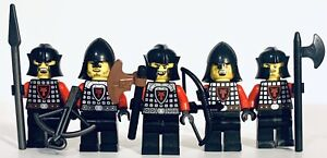 LEGO Kingdom Red Dragon Knights Lot Of 5x Minifigures Army Builder Castle Black