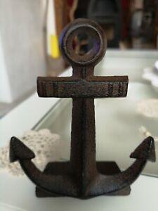 💙kleiner Türkeil~Türstopper~Anker⚓~ maritime Deko~Gusseisen~14,5x11,5x5,2cm~neu