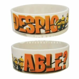 1 X DESPICABLE ME MINION WRISTBAND WRITING BRAND NEW GREAT GIFT