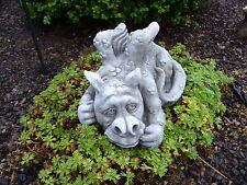Steinfiguren Drache Fantasiefigur Garten Deko Steinguss Gartenfiguren Drachen D6