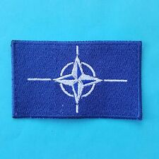 NATO OTAN FLAG Army Military Embroidered Sewing Emblem Badge Patch