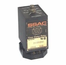 SSAC TRM120A3Y60 TIME DELAY RELAY 1-60 SEC W/ CUSTOM RB08-PC RELAY BASE