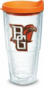 Tervis Bowling Green Falcons Logo Tumbler with Emblem and Orange Lid 24oz Clear