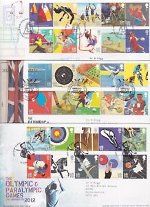 GB STAMPS FIRST DAY COVER 2009-10-11 OLYMPIC EVENTS BUREAU RARE COLLECTION