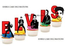 30 ELVIS PRESLEY STAND UP Cupcake Fairy Cake Topper Edible Paper Decorations