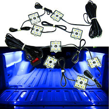 8pc Truck Bed Blue Neon LED Lighting Light Kit For Chevy Dodge GMC Trucks