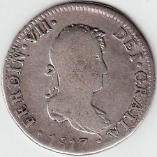 Peru / 2 Reales 1817 Limae J. P. Ferdin Vii