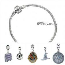 Official Genuine Harry Potter Silver Plated Charm Bracelet-Medium With 5 Charms