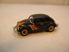 CUSTOM MATTE BLACK VW BEETLE GREENLIGHT 1:64 SCALE DIECAST METAL MODEL CAR