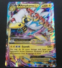 Mega M Ampharos EX 28/98 XY Ancient Origins Set HOLO Rare Pokemon Card NEAR MINT