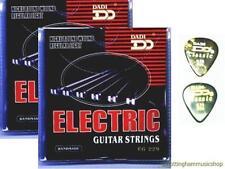 2 conjuntos de cuerdas de guitarra + 2 púas acústica eléctrica