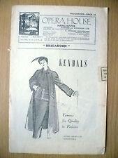 Opera House,1949-KANDALS~Prince Littler's BRIGADOON by Alan Jay Lerner/F Loewe