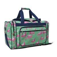 "Canvas 20"" carry on airplane/duffle/gym/overnight bag NWT FREE SHIP Flamingo NEW"