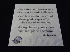 Evansville Icemen ECHL Ray Bourque Quote Sign From Locker Room
