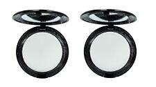 Stargazer Compacto Polvos de Maquillaje Base Espejo Compacto Blanco x 2