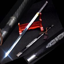 Hand Polishing Sharp Hua QianGu Mercy sword High Manganese Steel Blade #1364