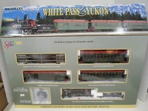 Bachmann ON 30 White Pass & Yukon Train set w/track