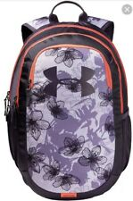 NWT Under Armour Youth Girls Purple Floral Scrimmage 2.0 Backpack $45