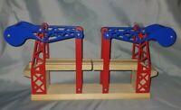 Wooden Railway Blue Red Sodor Working Suspension Bridge Thomas and Friends Train