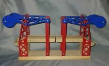 Wooden Railway Blue Red Sodor Working Suspension Bridge Thomas and Friends Train