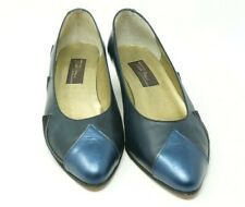 Vintage Sesto Meucci Of Florence Size 7 M Navy Pontus Calf Leather Heels