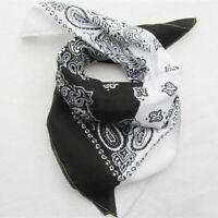 Mode Unisex Baumwolle Paisley Bandanas doppelseitige Schal Armband Geschenk R3Y6