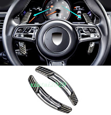 Carbon Fiber Steering Wheel Paddle Shifter Extension Fit For Porsche Macan 14-19