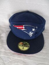 NEW ERA 59FIFTY FITTED NFL ON FIELD NEW ENGLAND PATRIOTS Blue NWT SZ 8