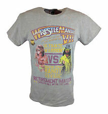 Wrestlemania 7 Ultimate Warrior vs Macho Man Randy Savage WWE Mens T-shirt