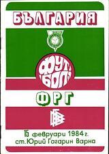 Länderspiel 15.02.1984 Bulgarien - Deutschland in Varna