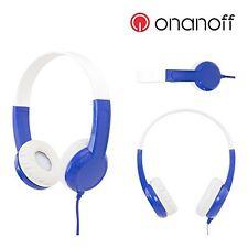 Kids Headphones by Onanoff, BuddyPhones Model - Blue - volume limiting lock - ho
