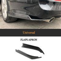 2x Universal Carbon Heck Stoßstange Spliters Flaps Spoiler Diffusor Heckschürze