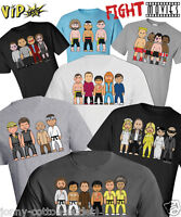 VIPwees Mens TShirt ORGANIC Cotton Fight Movie Inspired Caricatures ChooseDesign