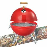 Portable Iron Kettle BBQ Grill Outdoor Camping Travel Charcoal Stove With Vent !