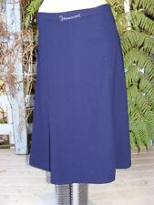 Size 8 NAVY SKIRT Casual/Work/School. Lined. New STYLSH CHAIN TRIM