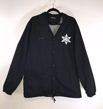 c7a729f2481c Michael Jordan Air Brand Pinnacle Security Black Windbreaker 23 Mens XL  Jacket